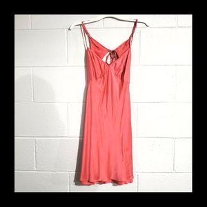 Victoria Secret 100% Silk open back nightgown